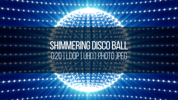 VideoHive Shimmering Disco Ball 18858283
