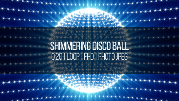 VideoHive Shimmering Disco Ball 18858366