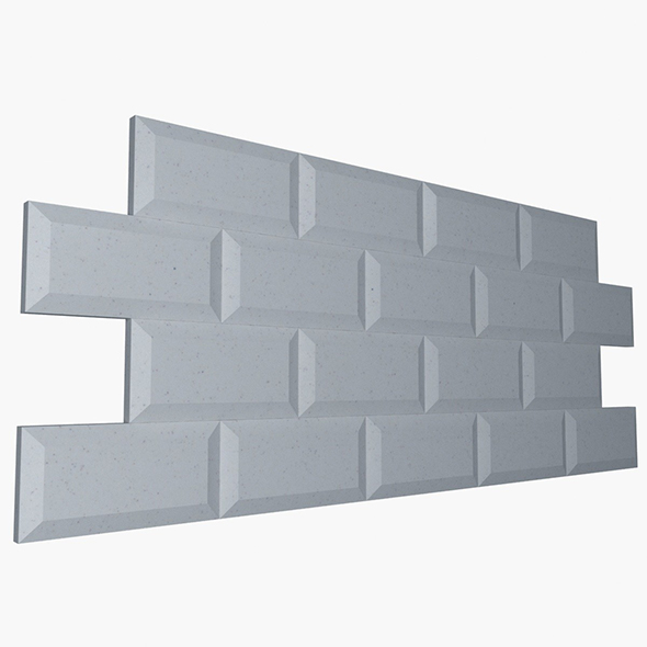 White Beveled Edge Subway - 3DOcean Item for Sale