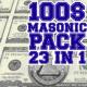 100 Masonic Dollars Pack 23 in 1