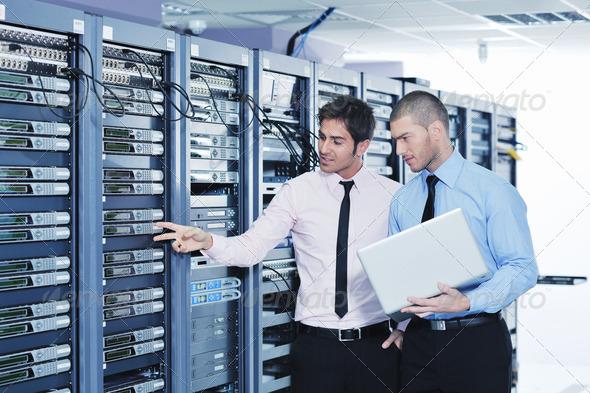 PhotoDune it engineers in network server room 1855815