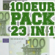 100 Euro Pack 23 in 1