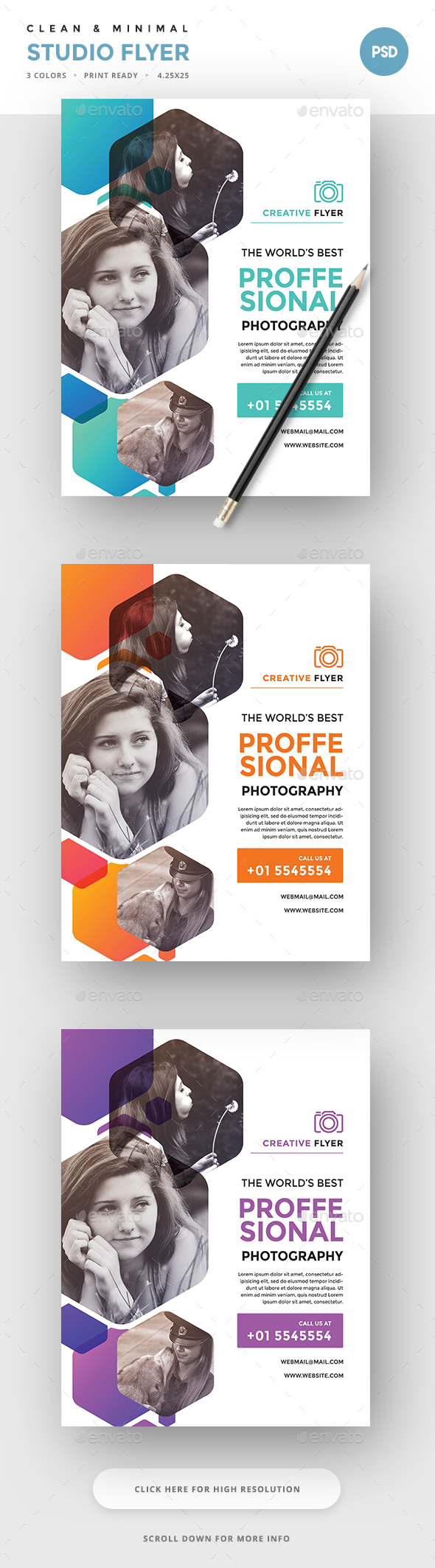 Studio Photography Flyer Graphics, Designs & Templates