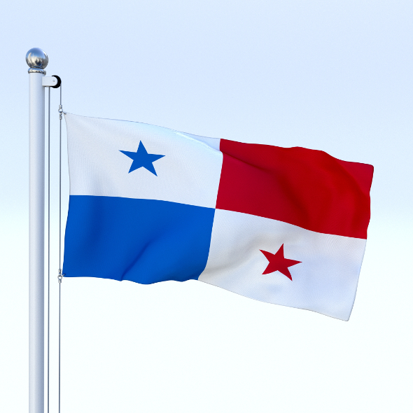 Animated Panama Flag - 3DOcean Item for Sale