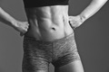 Close-up of woman muscular torso