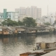 City's Slums From The River In Saigon City