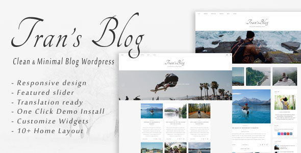 Tran - Clean & Minimal Blog WordPress