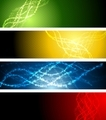 Abstract shiny sparkling banners