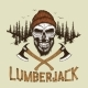 Skull-Lumberjack with Beard