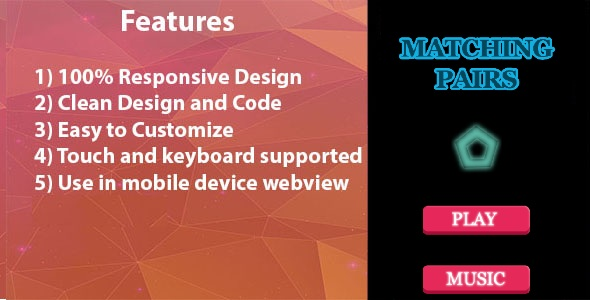 Download Matching Pairs - HTML5 Game nulled download