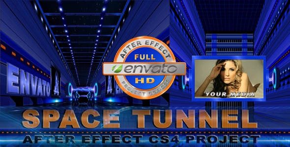 After Effects Project - VideoHive Space Tunnel HD 1856895