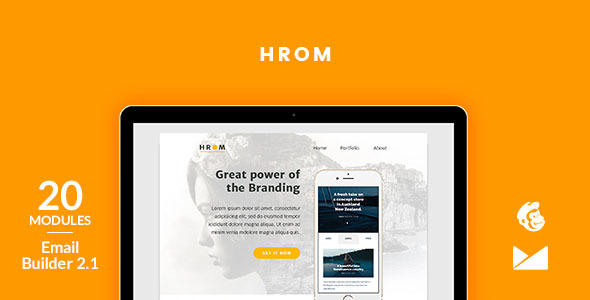 Hrom E mail Template + On the net Emailbuilder two.1 (Newsletters)