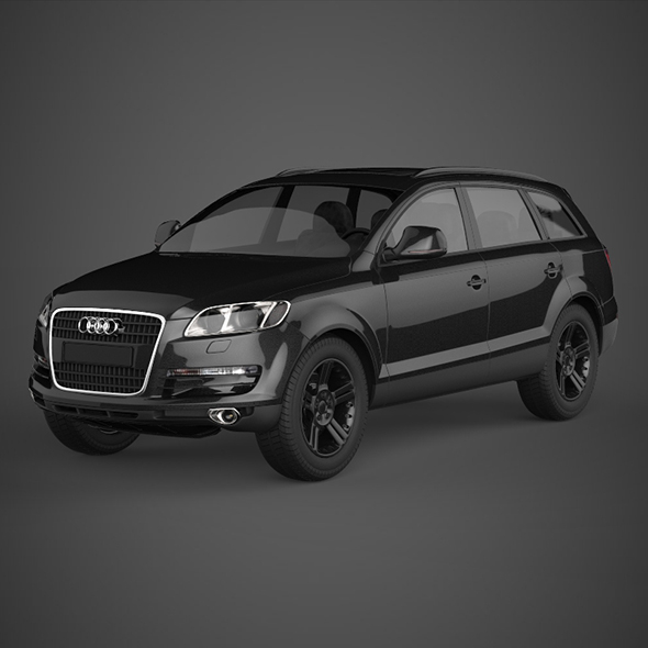 Realistic Car Audi Q7 - 3DOcean Item for Sale