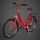 Realistic Red Bicycle