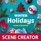 Winter Holidays scene generator