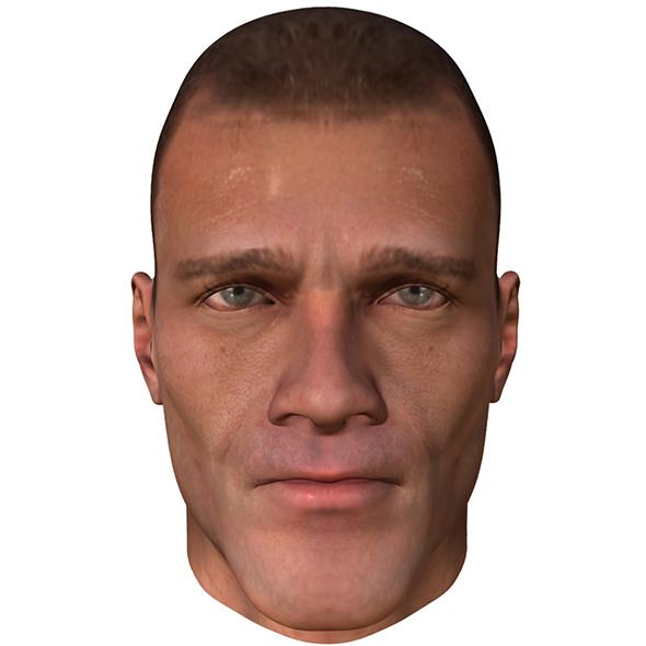 Male Head - 3DOcean Item for Sale