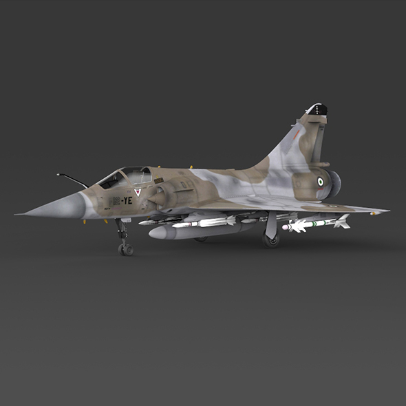 Fighter Aircraft Mirage 2000 - 3DOcean Item for Sale