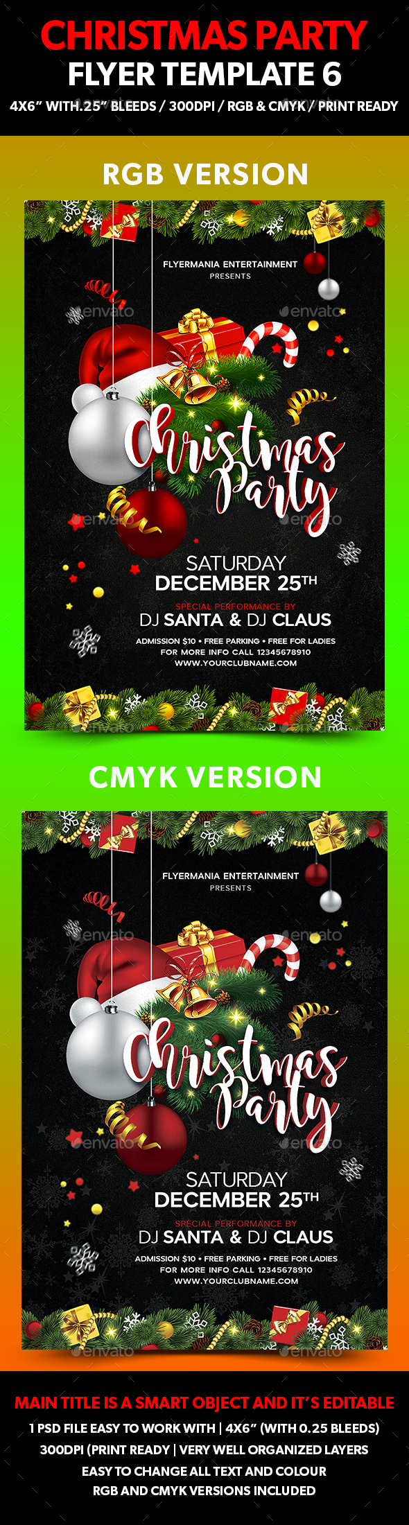 Christmas Party Flyer Template 6