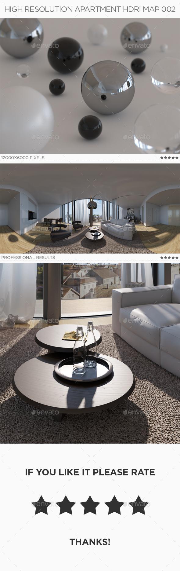 3DOcean High Resolution Apartment HDRi Map 002 18875551