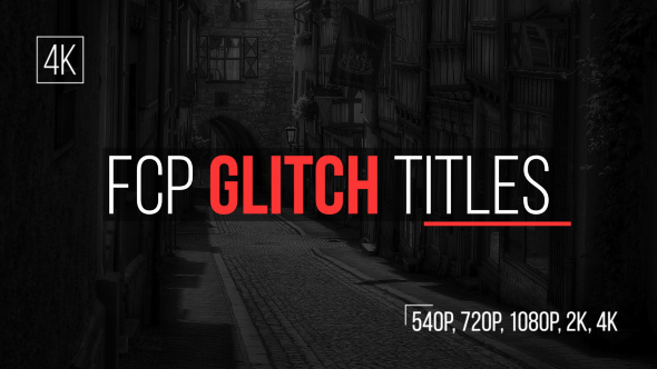 Download FCP Glitch Titles nulled download