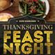 Thanksgiving Feast Night Flyer