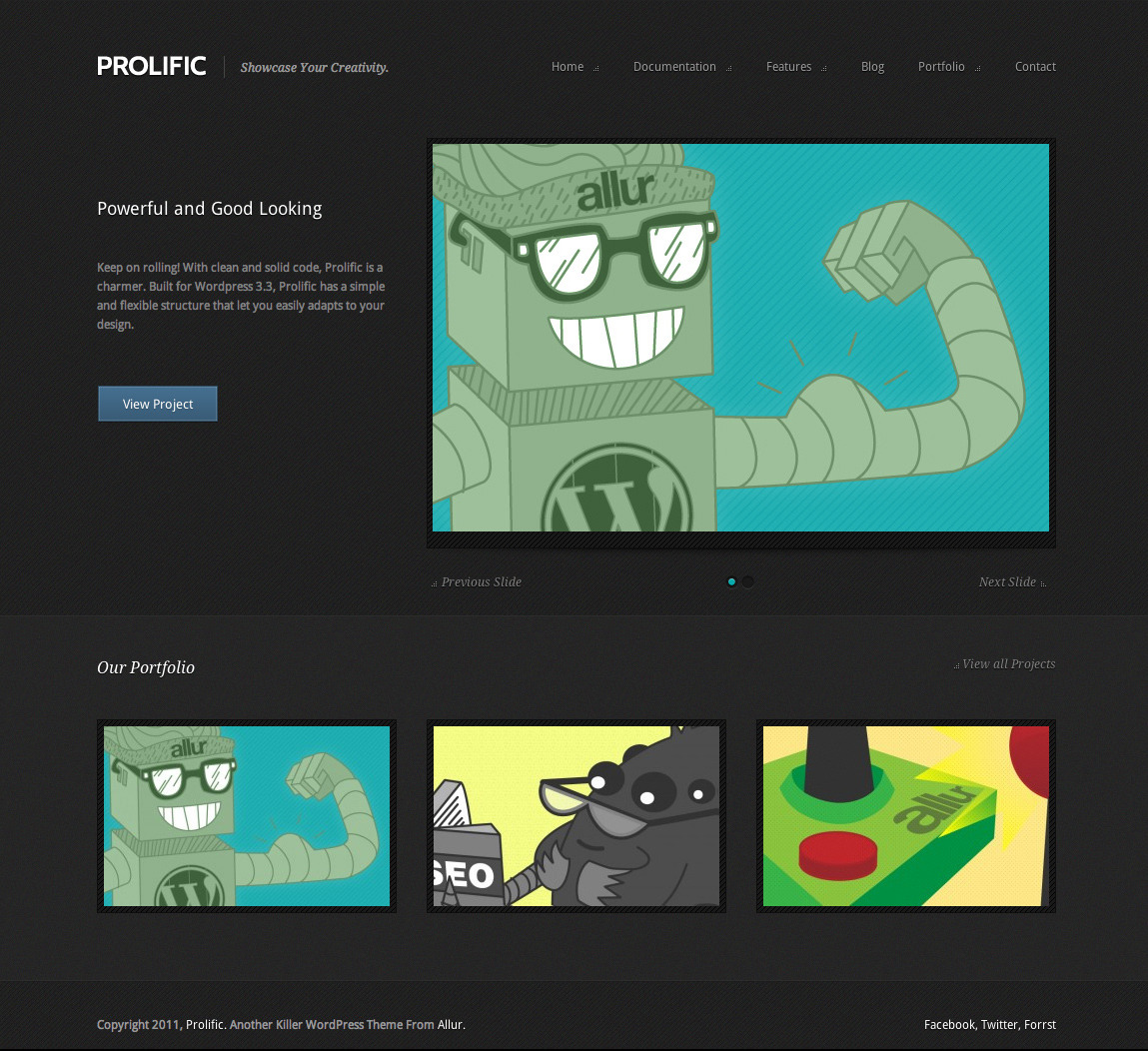 Prolific: A Modern WordPress Portfolio Theme