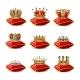 Crowns on Pillows Icon Set