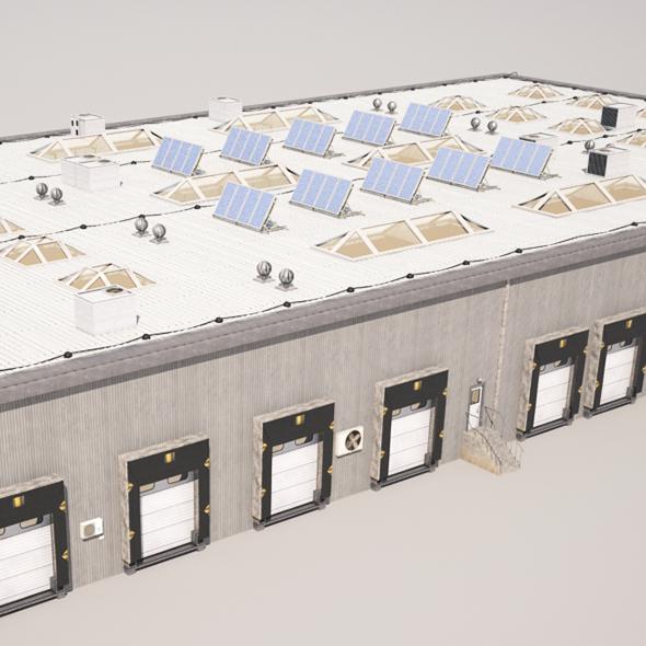 Cargo Building - 3DOcean Item for Sale