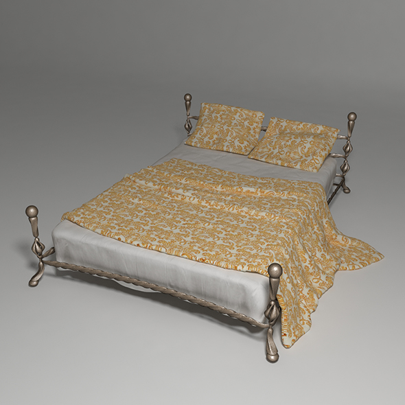 Wrought Iron Bed 2 - 3DOcean Item for Sale
