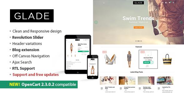 Glade - Responsive OpenCart Theme