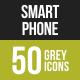 Smartphone Greyscale Icons