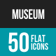 Museum Flat Multicolor Icons