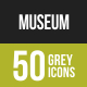 Museum Greyscale Icons