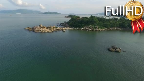 VideoHive Aerial View of the Peninsula and the Landmark 18886667