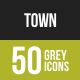Town Greyscale Icons