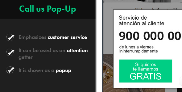Download Call Us Pop-up