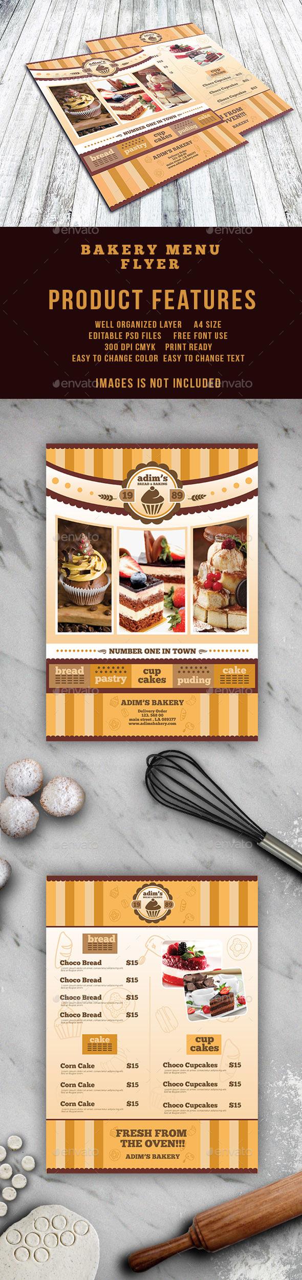 Bakery Menu Flyer Template