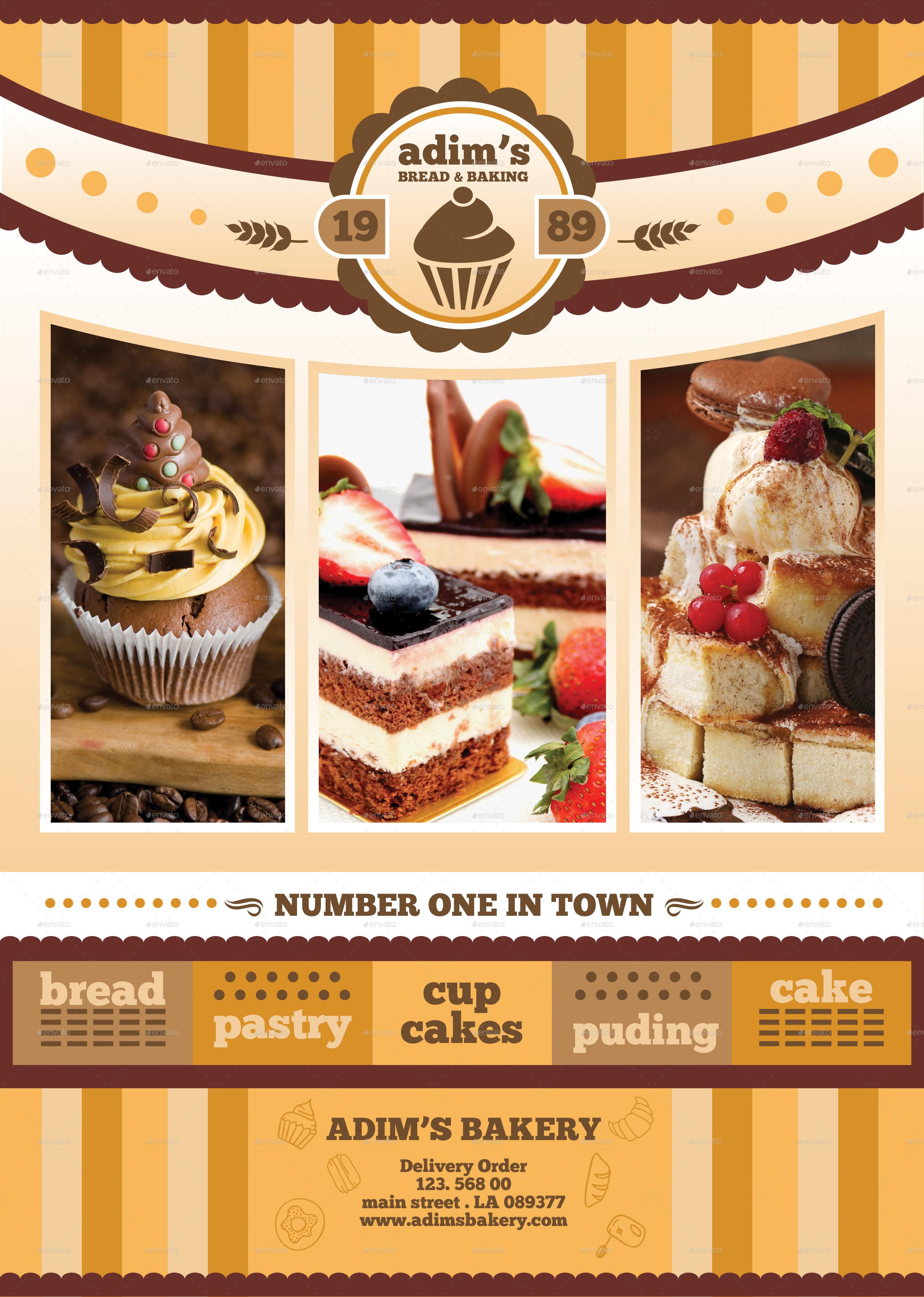 Bakery Menu Flyer Template by adimasen – Menu Flyer Template