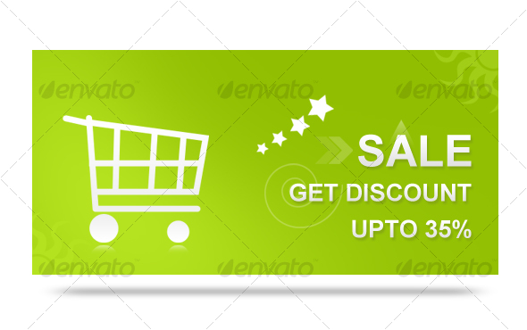 Sales Discount Banner - Backgrounds Graphics