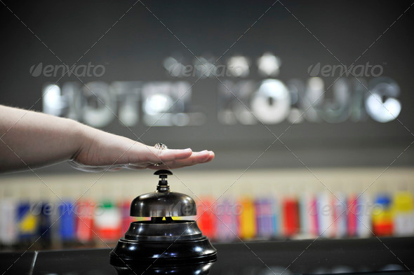 reception bell - Stock Photo - Images