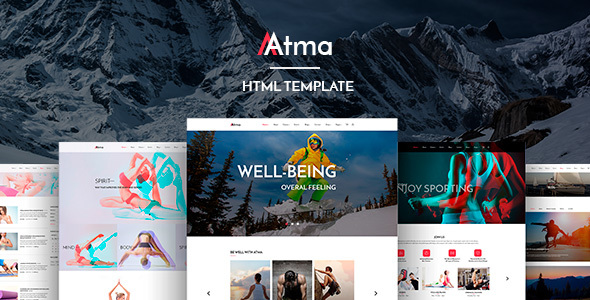 Download Atma — Multipurpose Wellness | Sport | Yoga Site Template