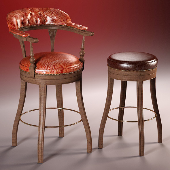 High Quality 3d Models: High Quality 3d Model Of Bar Chairs The