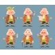 Noble Medieval Aristocrat Mascot Icons Set Cartoon