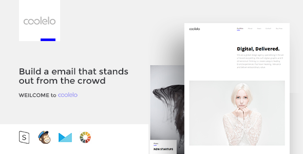 Image of coolelo - Responsive Email Template Minimal Portfolio
