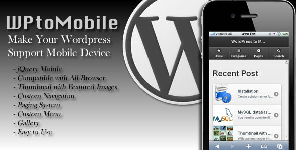 WPtoMobile - WorldWideScripts.net Element til salgs
