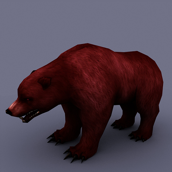 bear red - 3DOcean Item for Sale