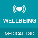 Well Being - Health & Medical PSD Template