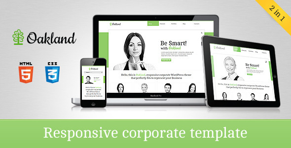 ThemeForest Oakland Responsive Corporate HTML5 Template 1852299