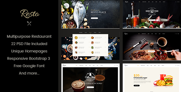 Resto | Multipurpose Restaurant & Cafe Joomla Template