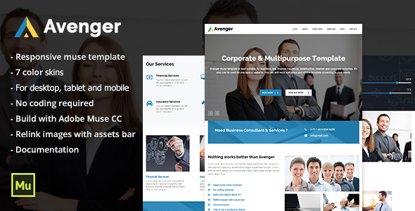 Avenger - Responsive Corporate & Multipurpose Template